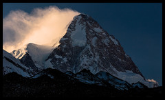 Morning light on K2  (8611m) (doug k of sky) Tags: china ri doug glacier east k2 xinjiang turkestan chogori chogo mountainscapes kofsky qogori