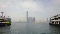 Looking to Kowloon (rhonddalad) Tags: hongkong skyscrapers starferry kowloon hongkongferry centralferrypier centralferryterminalhongkong