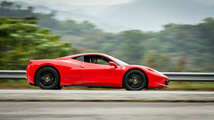 Ferrari 458 (Keith Mulcahy) Tags: cars hongkong wheels automotive ferrari panning smd 458 lukkeng sundaymorningdrive keithmulcahy february2015 blackcygnusphotography ppa7a0 ppd56c