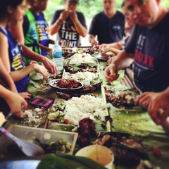 #kamayan #boodlefight #bananaleaves #nativefood #dumagatgrown #foundation #ecotourism #missionaries #hope #piniritongisda (Jayjay Lizarondo 2015) Tags: square squareformat rise iphoneography instagramapp uploaded:by=instagram
