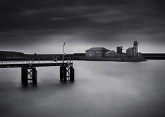 Whitehaven Old New Quay (malcolmacooper) Tags: longexposure bw lighthouse monochrome canon blackwhite harbour quay whitehaven longexposures leefilters oldnewquay eos5dmkiii