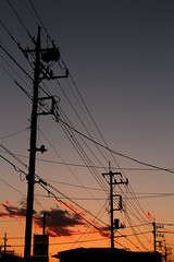IMG_5773 (egocamera) Tags: light sunset electric cord wire power sundown telephone utility cable an line pole telegraph