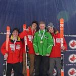 Kole Harle (WMSC) Most Improved, joins BC Team on podium at U18 Canadian Championships Super-G PHOTO CREDIT: Derek Trussler