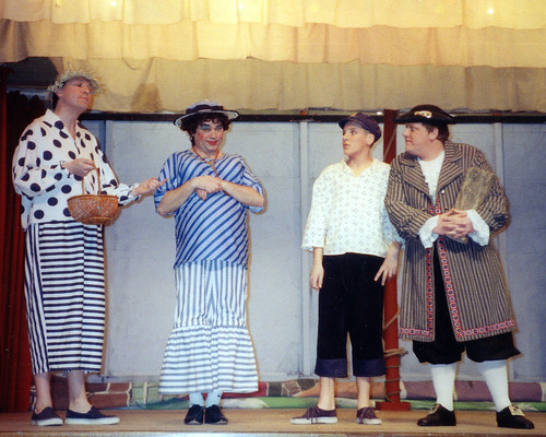 1994 Dick Whittington 28 (from left Roy Richie, Ross Crowe, Alex Fletcher, Kerry Morley)
