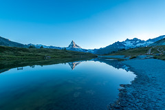 Matterhorn view (Zermatt, Switzerland) (Samuel Gmehlin) Tags: reflection switzerland zermatt matterhorn mountainlake cervin    1424mm  nikond750