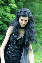 IMG_1588e (ScarletPeaches) Tags: bethw goth fairy isiswings outdoor black pixie