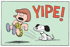 YIPE! (Tom Simpson) Tags: peanuts charliebrown comics snoopy dog charlesschulz charlesmschulz comicstrip newspapercomics 1954 1950s illustration vintage funny yipe