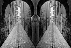 ...It'sTheSame?... (7H3M4R713N) Tags: street blackandwhite bw monochrome graffiti switzerland blackwhite suisse tag arches neuchtel pavs xt1 fujinonxf18135mmf3556rlmoiswr