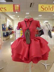 Summer sale (seikinsou) Tags: brussels belgium bruxelles belgique summer sale textile material dress red frock