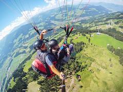 YEEHAW!!! (>>nicole>>) Tags: alpen alps austria brixental fliegen fly gleitschirmfliegen hohesalve hopfgarten kitzbheleralpen paragliding tandemflight tandemflug tirol yeehaw sterreich adrenalin