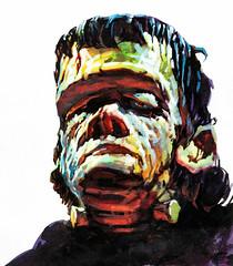 "Famous Monsters of Filmland #13 (1961), ""Frankenstein's Monster"" cover by Basil Gogos (Tom Simpson) Tags: illustration vintage painting frankenstein basil 1960s frankensteinsmonster 1961 gogos famousmonsters basilgogos famousmonstersoffilmland"