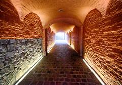Tunnel in Mons, Belgium (` Toshio ') Tags: toshio mons belgium europe european europeanunion texture fujixe2 xe2 light belgian interior architecture