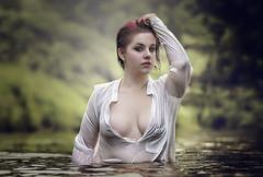 wet shooting - jenni (pewag-photos) Tags: wet wetlook nass jenni fluss clothed