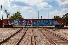 (o texano) Tags: houston texas graffiti trains freights bench benching soer creatures