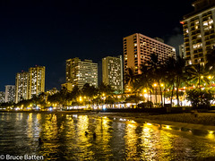 160711 Honolulu-09.jpg (Bruce Batten) Tags: night usa northpacificocean plants subjects reflections buildings hawaii trees locations trips occasions oceansbeaches urbanscenery celestialobjects starsconstellations people businessresearchtrips honolulu unitedstates us