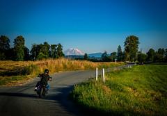 To the Mountain (Jonas Skalsky) Tags: mountain washington rainier biking motorcycle landscape sky color