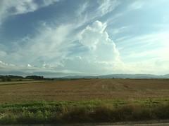 Thundercloud and the Ishikari Plain (sjrankin) Tags: 2august2016 edited hokkaido japan hdr clouds weather thundercloud plain ishikariplain hills