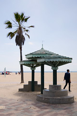 LA Adventures (Samicorn) Tags: nikon california losangeles santamonica venicebeach beach palm tree sand lone hut gazebo