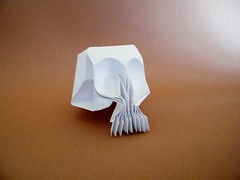 Calavera - Victor Coeurjoly (Rui.Roda) Tags: origami papiroflexia papierfalten crne caveira skull calavera victor coeurjoly