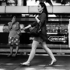 Singapore (ale neri) Tags: street blackandwhite asian people girl condom asia singapore aleneri candid streetphotography bw alessandroneri