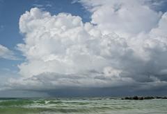 Storm approaching on Honeymoon Island (tfhammar) Tags: honeymoonisland dunedin florida summer thunderstorm gulfofmexico