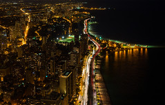 Chicago at Night (romanboed) Tags: leica m 240 summilux 50 usa chicago gold coast lake shore drive summer night open window aerial city downtown lights street longexposure lakefront waterfront lincoln park urban