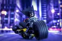 Lego Batbike (Jezbags) Tags: canon60d canon 60d macro macrophotography macrodreams lego batman batbike blue purple street gotham 100mm dc