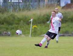 Cameron Haddow spreading the ball out wide (Stevie Doogan) Tags: clydebank glasgow perthshire exsel group sectional league cup wednesday 10th august 2016 holm park