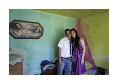 Siblings (Jan Dobrovsky) Tags: bw color countrylife countryside document gypsies indoor jirikov krasnalipa leicaq north roma siblings street tattoo village wedding