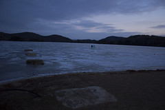 Sunset On The Lake (Thomas Forlini) Tags: new winter mountain lake cold landscape frozen year skating tremblant t2i