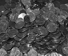 2014_1118Spare-Change-B&W0004 (maineman152 (Lou)) Tags: november bw coin coins maine change bwphoto blackandwhitephoto madmoney rainydayfund christmasstashofcoins savedpocketchange
