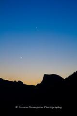 Dawn Breaking (biglad80) Tags: park silhouette sunrise dawn national yosemite dome half halfdome ynp