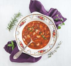 Tuscan bean soup (vegan) (foodpornveganstyle) Tags: food soup vegan beans vegetarian tuscan veganfood foodphotography foodstyling foodpornveganstyle