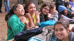 Pose (Kevin MG) Tags: usa girls young cute pretty little preteen santabarbara lakecachuma ods woods hiking smile california child kid kids children