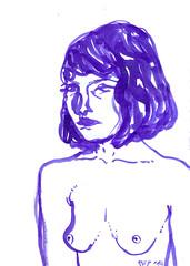 ink girl 2 (art-creature) Tags: art girl illustration ink artwork artist purple drawing sketchbook
