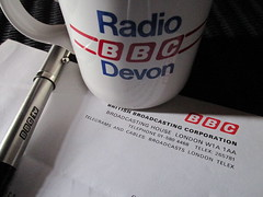 1980s Off-Air Applications of the BBC logo (Balticson) Tags: stilllife pen graphics bbc broadcasting mug 1980s logos