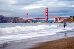 There is a tide in the affairs of men. Which, taken at the flood, leads on to fortune. (gags9999) Tags: sanfrancisco bridge beach golden gate san francisco baker tide infinitexposure