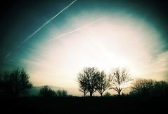 Sunrise (PattyK.) Tags: morning trees winter sun sunrise greece 2014 ioannina