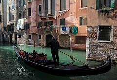 Venice 2014 (Richard Mills) Tags: classic canal gondola washing gondolier balconygarden venicegallery