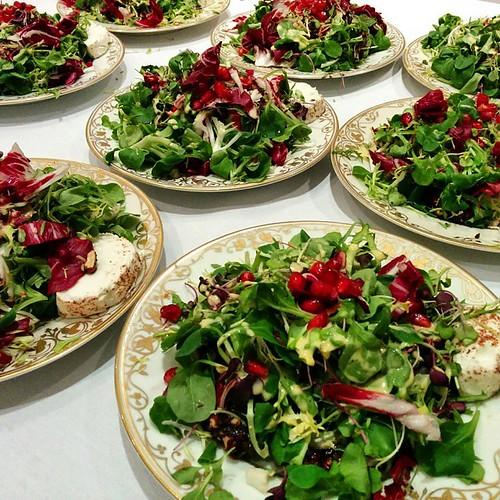 #salad #goatcheese #pomegranate