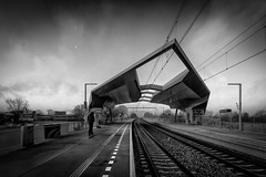 Nijmegen Goffert station (80D-Ray) Tags: station nijmegen backandwhite goffert gederland nijmegengoffert