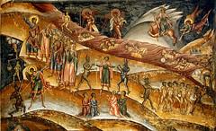 Fresco (Askjell's Photo) Tags: art church painting heaven god hell angles romania devil knight orthodox fresco biblical