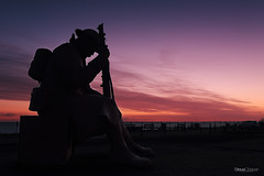 Hopes and fears (Steve Clasper) Tags: uk history sunrise soldier respect wwi north tommy coastal northern greatwar northeast seaham 1101 elevenoone steveclasper