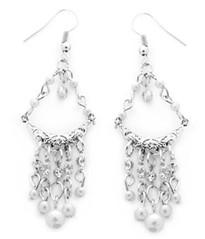 5th Avenue White Earrings P5610-3