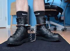 DSC_2561 (Chris A. Mitchell) Tags: boots bondage legirons dannerrecon