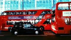 Bright lights. (giuliabrusini) Tags: christmas greatbritain red london love lights travels unitedkingdom cab newyearseve brightlights shining doubledecker