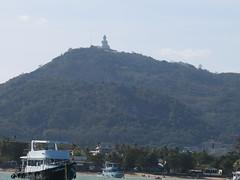 That is Big Buddha on top of the mountain (ClemsonWendi) Tags: thailand rayaisland rachaisland rochaisland