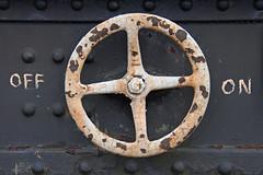 Off/On (Treflyn) Tags: wheel train wagon great central rusty rail railway off brake swithland on sidings stored