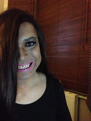 Say cheese (Priya Lloyd TV) Tags: pink tv pretty teeth lips tranny transvestite lipstick trans