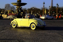 VW Coccinelle Cabriolet (seb !!!) Tags: auto paris france cars car yellow vw jaune canon volkswagen de photo automobile beetle picture voiture concorde seb coccinelle cabriolet karmann traverse 2015 kafer